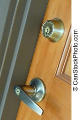 Security door handle - Contempoary lever door handle and...