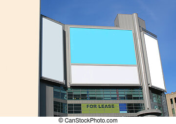 big city advertising - giant blank billboards in a big city...