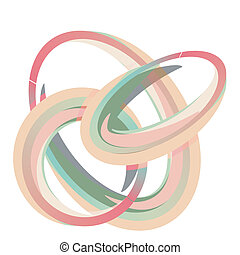 Abstract spheres and circles in pastel colors
