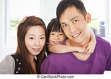 happy family with little girl