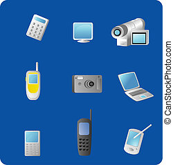 Electronic Gadgets - Vector based illustration of various...
