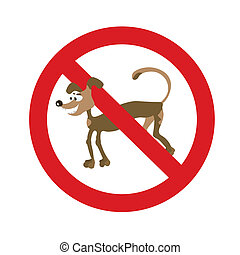 cartoon dog symbol - Isolated illustration of sign with...