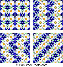 Design seamless flower pattern. Vector art