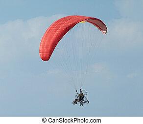Paramotor, voando