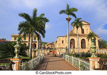 Trinidad - The Plaza Mayor in Trinidad, Cuba