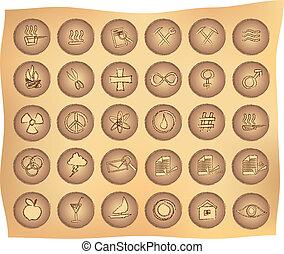 primitive buttons - various primitive looking web buttons