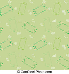 Mobile Devices, Smartphone, Seamless Pattern Background