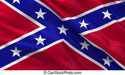 Seamless loop of Confederate Flag - Seamless loop of the...