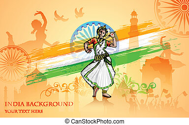 Culture of India - illustration of colorful culture of India
