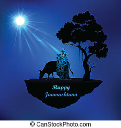 Radha, krishna, Janmasthami, noturna