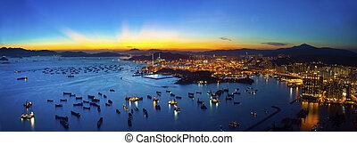 Hong Kong majestic sunset