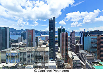 Hong Kong city day view