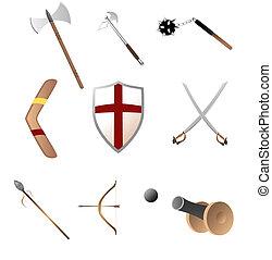 Medival, primitave, armas
