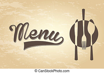 menu vintage - menu design over vintage background vector...