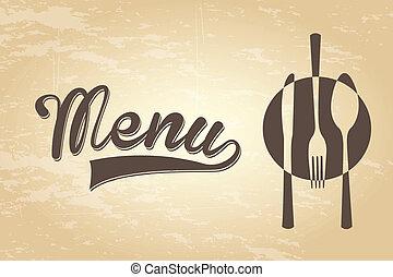 menu vintage - menu design over vintage background vector...