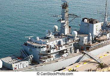 Type 23 frigate in the Malta Grand Harbor
