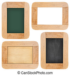 Old chalk board with wood frame - Collection of Old chalk...