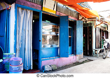 Restaurant in Indonesia - A typical restaurant in an...