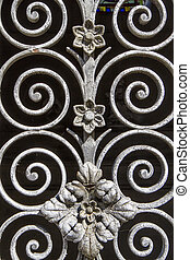 Metal ornamentation as background