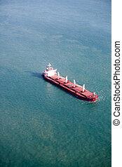 Ocean Liner - An ocean liner on the open sea