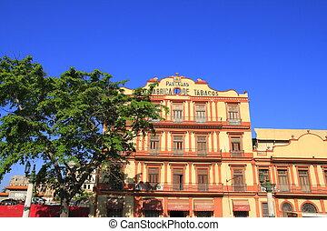 House facade in Havana, Cuba