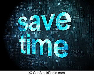 Timeline concept: Save Time on digital background - Timeline...