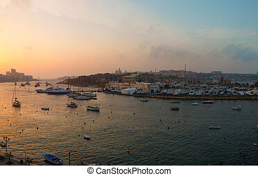Dawn Manoel Island Marsamxett Harbour - Dawn Manoel Island...