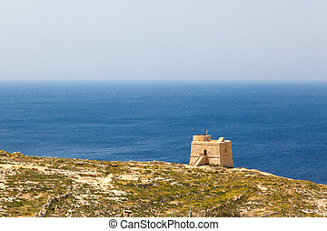 Dwajra Tower in the Maltese island of Gozo.