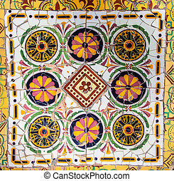 mosaic wall in park city Barcelona - tile mosaic wall in...