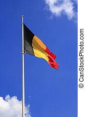 The flag of Belgium