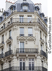 Typical parisian architecture, France