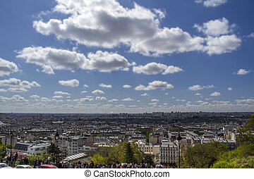 Scenic view over Paris, France, in spring