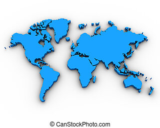 3D World Map-World Map 3D Render -Could be used for anything...