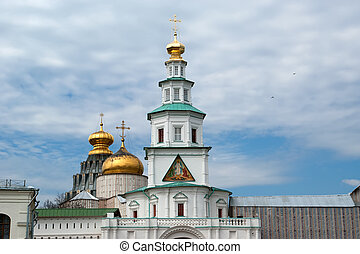 New Jerusalem in town Istra, surroundings of Moscow, Russia...