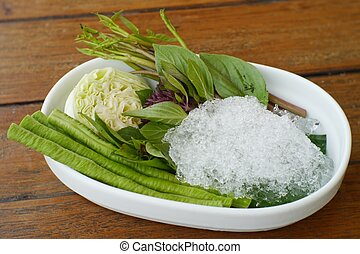 Side-dish vegetable - In Thai restaurants, you always see...