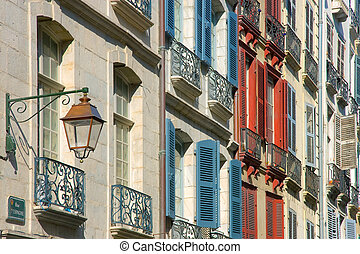 Shutters in Street Bayonne, Pirenees atlantiques (France)