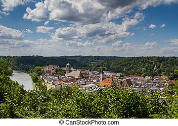 Small town of Wasserburg am Inn in Bavaria, Germany