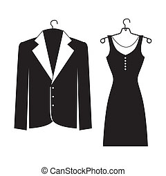 elegant suits over white background vector illustration