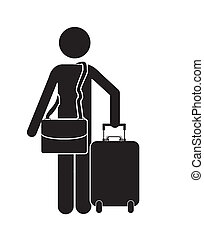 traveler design over white background vector illustration