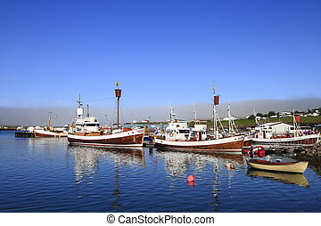 Husavik - The port of Husavik, Iceland