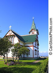Husavik church dates from the beginning of last century