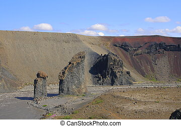 Karl og Kerling are two cone rock