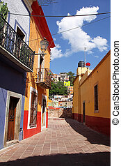 beautiful colorful colonial architecture of Guanajuato in Mexico