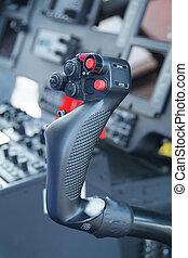 Control stick of helicopter - Cyclic control stick of large...