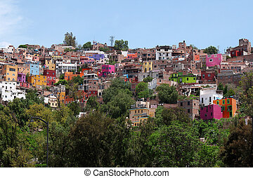 colorful architecture of Guanajuato, Mexico