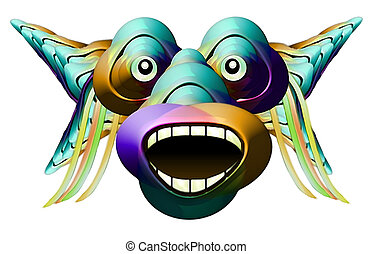 Funny Monster Character Portrait