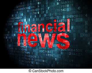 News concept: Financial News on digital background