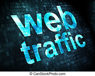 SEO web development concept: Web Traffic on digital...