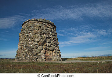 Culloden Moor Battlefield Cairn - Memorial cairn...