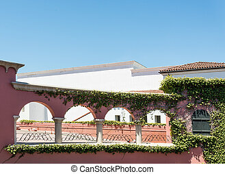 Spanish style architecture in California